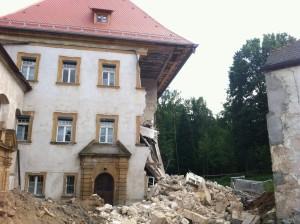 Das eingestürzte Hammerschloss in Röthenbach