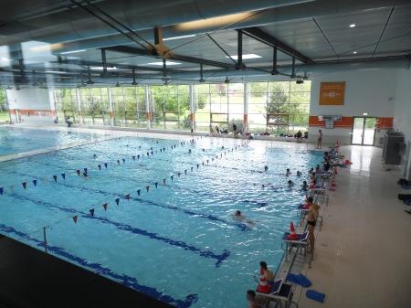 Zu einem Erlebnisbad gehört auch ein großes Sportbecken.