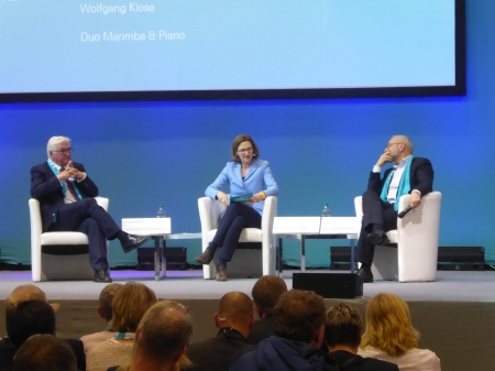 Frank-Walter Steinmeier, Bettina Schausten, Herfried Münkler